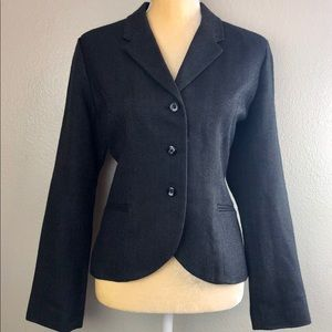 Gap Gray Herringbone Lined Blazer 10